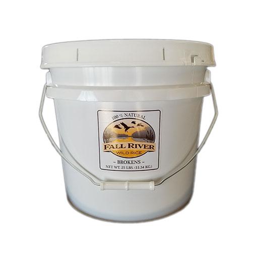 Bucket of broken wild rice
